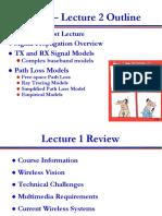 Wireless communication (Lecture 2)