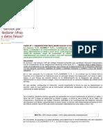 CASOS PRÁCTICOS- Cómo La Sanción Por Declarar Cifras o Datos Falsos Se Determina