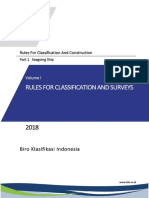 ( Vol I ),2018 Rules for Classification and Surveys,2018