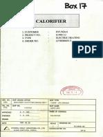 Calorifier Marine