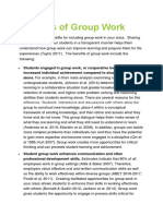 Benefits of Group Work