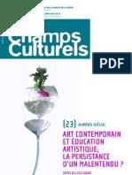 Champs culturels n°23 [Numéro spécial]