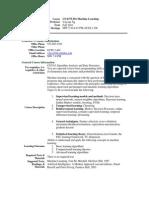 UT Dallas Syllabus for cs6375.501.10f taught by Yu Chung Ng (ycn041000)