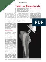 Curent Trands in Biomaterials