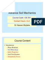 Advanced Soil Mechanics Lec 1 Basic Introduction