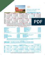Karnataka High Court Calendar,2018