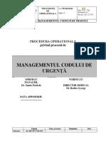 PROCEDURA MAMAGEMENTUL CODULUI DE URGENTA.docx