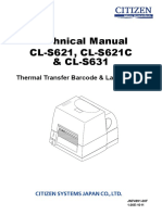 Citizen CL S621,CL S621C,CL S631 Technical Manual