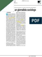 Tributo a un giornalista sociologo - Roma, 31 gennaio 2018