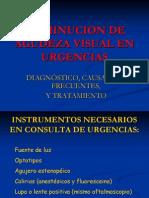 Disminucion Agudeza Visual Urgencias