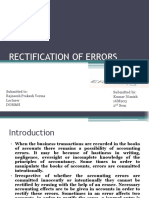 Rectification of Errors- FA
