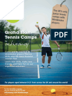 Active Away Junior Tennis Camps Brochure