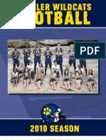 2010 Wheeler Football Program