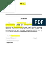 Declaratie Activeamortizare Model
