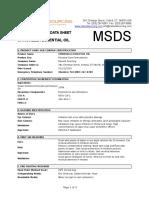 MSDS Essential Oil Citronella
