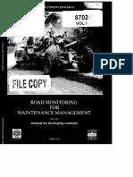 OCDE Road Monitoring Vol1 Manual