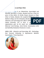 Dr. Devika Chopra and Hope Clinic