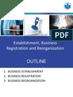 Establishment Business Registration and Reorganization