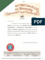 Ug Degree Certificate