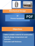 Mechanical Design for pressure vessel