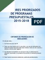 4 -Indicadores Priorizados de Programas Presupuestales