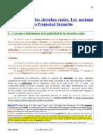 Publicidad de Los Derechos Reales-ley de Reg Prop Del Inmueble
