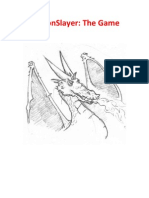The Dragon  Slayer Paper Game