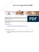Cara Membuat Cover Page Di Word 2007