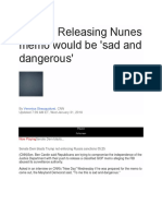 Releasing Nunes Memo Would Be 'Sad and Dangerous