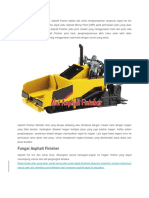 Fungsi Alat Asphalt Finisher 2