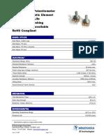 Potenciometro rotatorio - datasheet