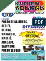 Passeio Para o Nordeste Fortaleza Porto de Galinhas Julho 2018 Santinh