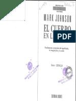 Johnson, Mark - El Cuerpo en La Mente Fundamentos Corporales Del Significado La Imaginacion y La Razon