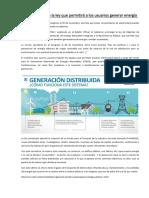 Entra en Vigencia La Ley Que Permitirá a Los Usuarios Generar Energía