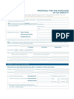 ICEA Annuity Proposal Form