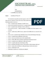 4th Floor Ktv Punchlist Letter 8-23-16