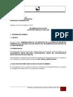 LP 002 2016 Informe de Evaluacion