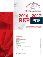 Cambridgeshire Deaf Association Annual Report 2016-17