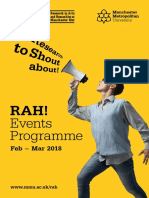 RAH! Events Programme - Feb – Mar 2018