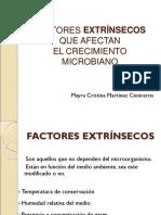 Factores Extrinsecos Que Afectan El Crecimiento Microbiano