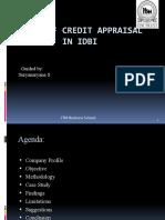 credit appraisal techniques od idbi