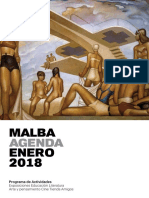 MALBA - Agenda Enero 2018