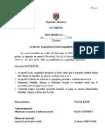 Proiectul Hotărârii de Guvern cu privire la aprobarea Listei ocupațiilor prioritare