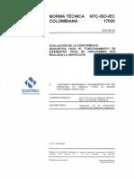 2. NTC ISO IEC 17020:2012