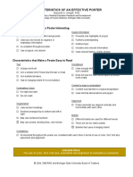 Characteristics of an Effective Poster