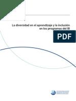 A1 LA DIVERSIDAD EN EL APRENDIZAJE Y LA INCLUSIÓN EN LOS PROGRAMAS DEL IB 2016.pdf