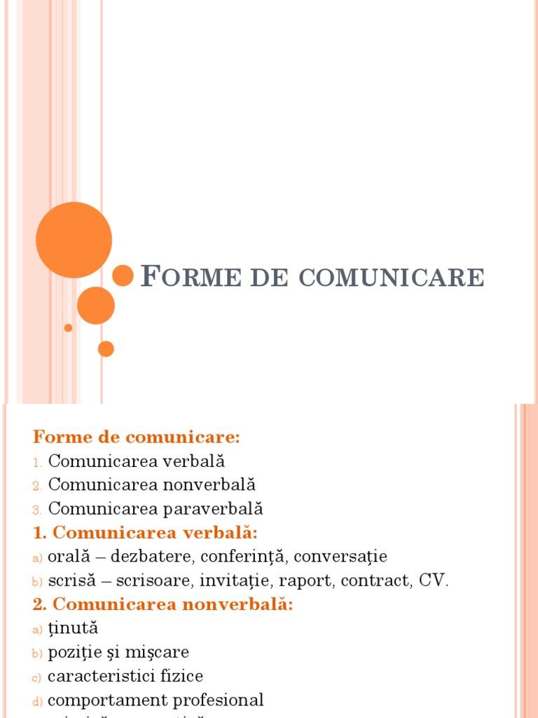 formele comunicarii