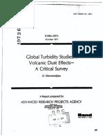 1971-Global Turbidity Studies. I. Volcanic Dust Effects-A Critical Survey