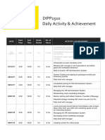 dipp1510 daily activity achievement log