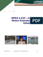 Ateme MPEG-4 AVC H264 Motion Estimation IP Datasheet